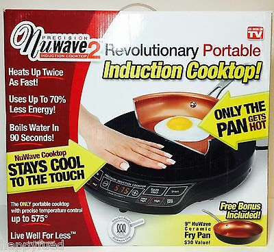 """NuWave 2 Portable Induction Cooktop Includes 9"""" Ceramic Pan As Seen On TV NIB"""