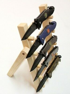 "NEW 12"" 5 Tier Wooden Stand For Knife Display at Shows and Markets"