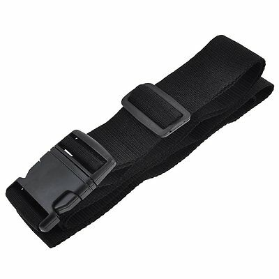 Quick Release Buckle 3 Digits Black Lock Luggage Strap B3