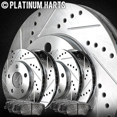 Liberty Front  Blank Brake Rotors+Semi-Met Brake Pads Jeep Nitro Fit Dodge