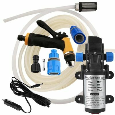 12V High Pressure Water Pump Washer Cleaner Kit Marine Boat Car Caravan Camping