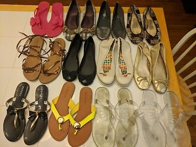 Lot of 21 pairs of Women's Shoes - Size 10 - Most Preown - Converse Sperry Keds
