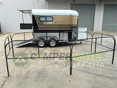 Bargain! Extended Straight Load 2-Horse Float With Awning And Horse Yards!