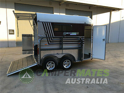 Cheap Freight to Queensland! Brand New Double-horse Angle Load Horse Float!