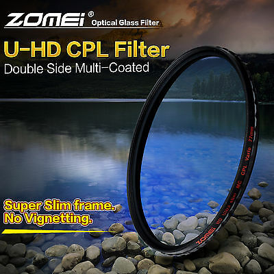 ZOMEI 58/67/72/77/82mm HD CPL Circular Polarizer Polarize Filter for Camera DSLR