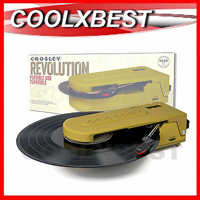 Crosley Revolution Compact Portable Turntable 2 Speed Usb 6020A-Gr (Refurbished)