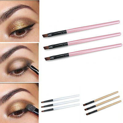 Makeup 3pcs Brushes Set Oblique Angled Eyebrow Brush Eye Liner Brow Make Beauty