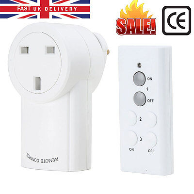 1X REMOTE CONTROL SOCKETS WIRELESS SWITCH HOME MAINS UK PlUG-IN AC POWER OUTLET