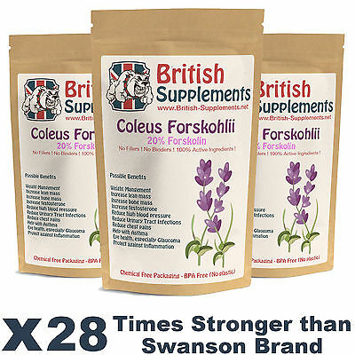 Coleus Forskohlii (Forskolin) Weight Loss Fat Pills Fat Burner Reduce Hunger UK