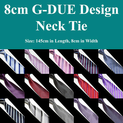 Mens G-DUE Handmade Business Necktie Stripe Texture Corporate Formal Dress Ties