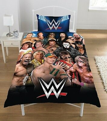 WWE Legend Panel Single Bed Duvet Quilt Cover Bedroom Bedding Set Brand New Gift