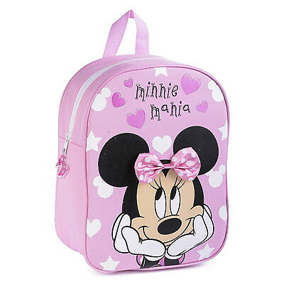 NEW OFFICIAL Minnie Mouse Disney Girls Kids Classic Backpack Rucksack School Bag