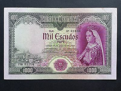 Portugal 1000 Escudos P161 Dated 31st January 1956 VF+/aEF