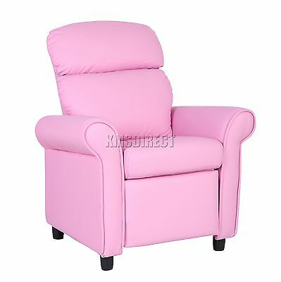FoxHunter Kids Recliner Armchair Games Chair Sofa Seat PU Leather KSP01 Pink New