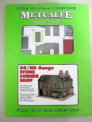 *NEW* Metcalfe STONE CORNER SHOP PO264 Ready Cut Card Kit OO/HO Scale