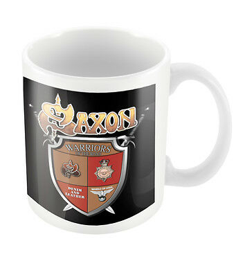 Official Saxon Crest Mug New Rock Metal Band Merch Coffee Boxed Warrior