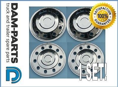 1x SET OF 16'' WHEEL TRIMS COVERS STAINLESS STEEL FRONT & REAR TRANSIT SPRINTER