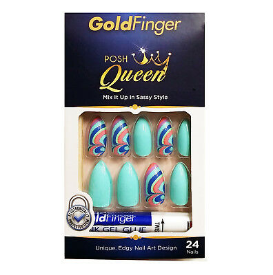 Kiss Gold Finger Posh Queen GF98 24 Full cover nails