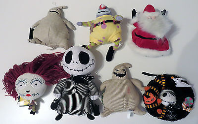 The Nightmare Before Christmas - Job Lot of 7 Bean Bag Plush Dolls / Toys
