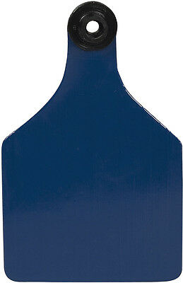 Ritchey Universal 3'' Blank Large Cattle ID Ear Tags Blue/White Center 25 ct