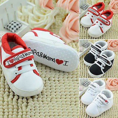 Infant Toddler Baby Boy Girl Kids Soft Sole Shoes Newborn Sneaker Boots 0-18 M