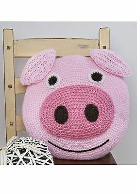 Twilleys Pig Cushion Complete Crochet Kit Ideal Gift 2898/4024 FREE POSTAGE