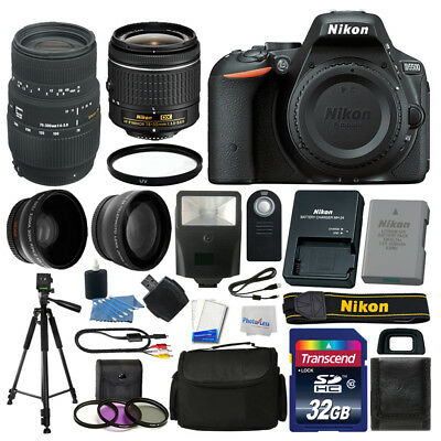 Nikon D5500 Digital SLR Camera +4 Lens 18-55mm VR 70-300 + 32GB Complete Bundle