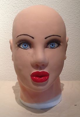Emerald Silicone Female mask (Genuine MASK ON FROM USA) rubber, masking, corset