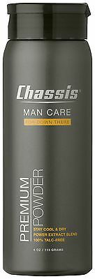 Chassis Premium Powder Man Care 4 oz. Deodorant Cool Dry Fresh Clean BodyHygiene