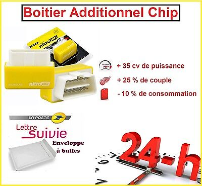 BOITIER ADDITIONNEL CHIP PUCE OBD2 TUNING ESSENCE PEUGEOT 308 II 1.2 VTi 82 CV