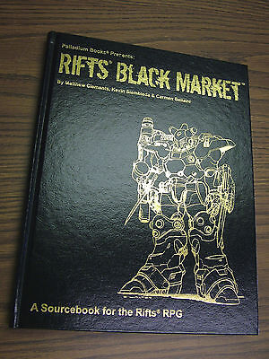 Rifts Black Market Gold Edition -  Hardcover -- 44 of 250  -- 8 sig.s