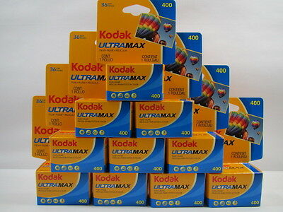 KODAK Ultramax 400 ISO 135-36 Exp. 35mm Film - 10 Rolls