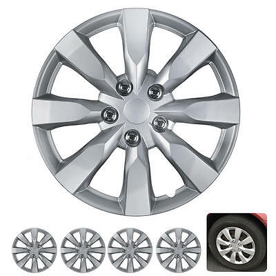 4 PC Set 16 Inch Hub Caps Silver Fits Toyota Corolla 2014 Replica Wheel Covers