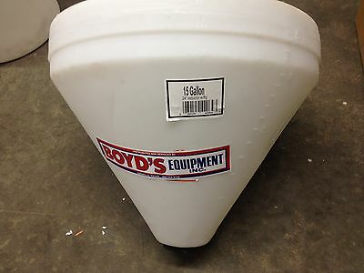 "15 gallon cone bottom tank only 24"" X 21""  NO STAND"
