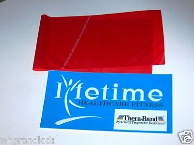 4Ft 1.2m RED MEDIUM THERABAND Thera-band Ballet Dance Exercise Physio Stretch