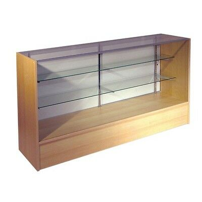 ITEM# SC6M 6' Full Vision Retail Glass Display Case In Maple Will Ship