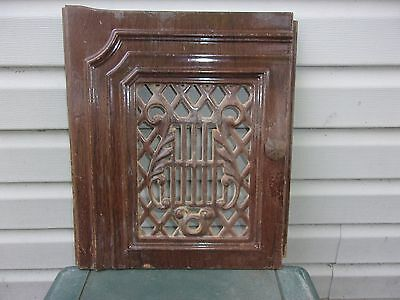 Vgt Cast Iron Enamel Ornate  Door Firplace Wood Stove Decor Garden X-29-30