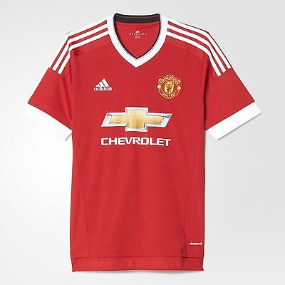 Adidas Manchester United Home Jersey 2016 M L Xl 2Xl Football Soccer Red Ac1414