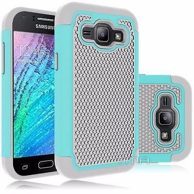 Fits Samsung Galaxy J1 2016 Case Shockproof Rugged Impact Hybrid Cover - Teal