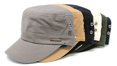 Men's Cotton Army Hat Military Cadet Patrol Style Brim Spring Summer Cap Cabbie