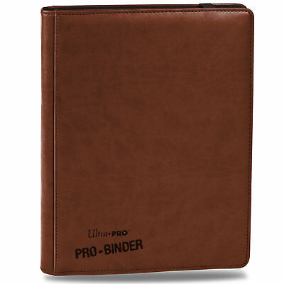 Ultra-Pro PREMIUM Pro-Binder BROWN With 20 Trading Card Pages to Hold 360 Cards
