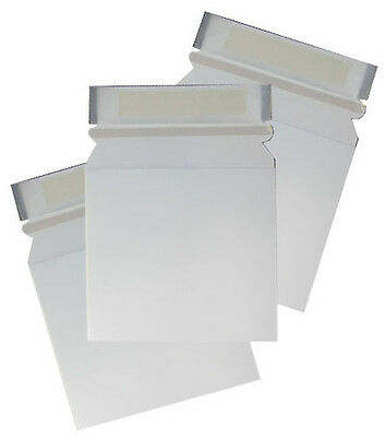 100 CD DVD Cardboard Mailers Envelope Pull Tab Peel Seal 163x154mm Large Letter
