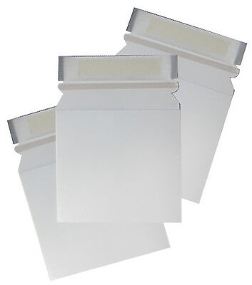 175 CD DVD Cardboard Mailers Envelope Pull Tab Peel Seal 163x154mm Large Letter