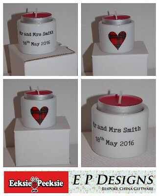 Boxed and Personalised Wedding/Engagement/favour Tealight holder, Wedding Gift