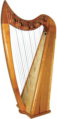 Stoney End Eve model CELTIC HARP & Bag, 22 Strings, 6 levers. Handmade in USA.
