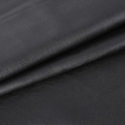 """1M/2M Faux Leather Black commercial grade upholstery fabric  54"""" wide"""