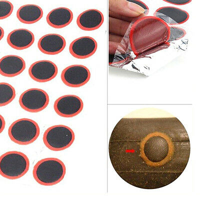 48pcs Bicycle Bike Tyre Tire Inner Tube Puncture Rubber Patches Repair Mend Kit