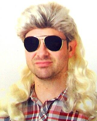 Blonde Mullet Wig 70s 80s Rock Bogan Party Fancy Accessory