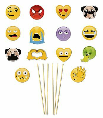 Emojinal Selfies Smiley Fun Party Photo Booth Props 15 Pc