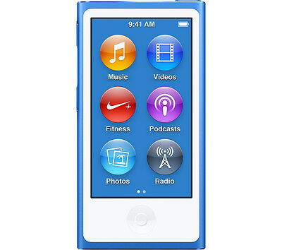 "APPLE iPod nano 16GB 7th Generation 2.5"" Multitouch Display Bluetooth Blue"
